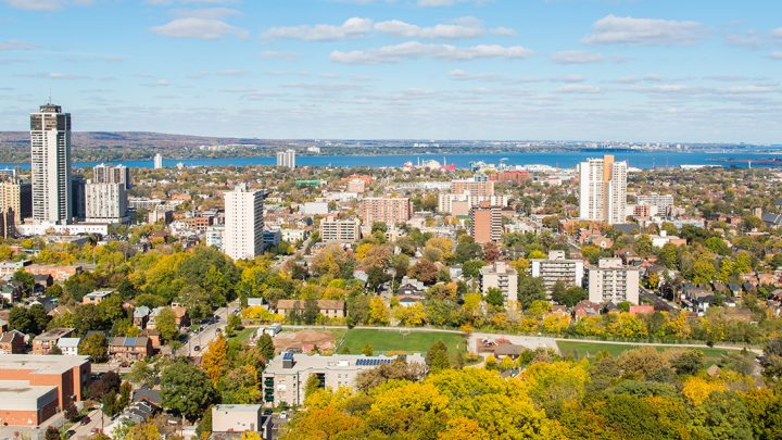 Photograph of Hamilton skyline, used for our newsletter.