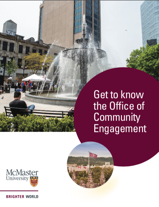 Image of the Office of Community Engagement's Community guide.